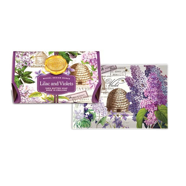 Lilac and Violets Large Soap Bar