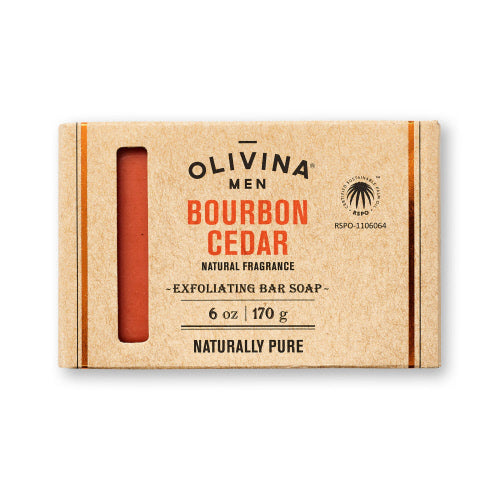 Olivina Men - Bourbon Cedar Soap Bar