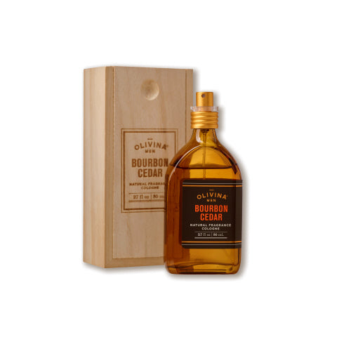 Bourbon Cedar Cologne & Wood Box