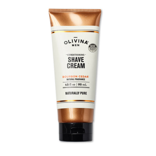 Olivina Men - Bourbon Cedar Shave Cream (6.5 oz.)