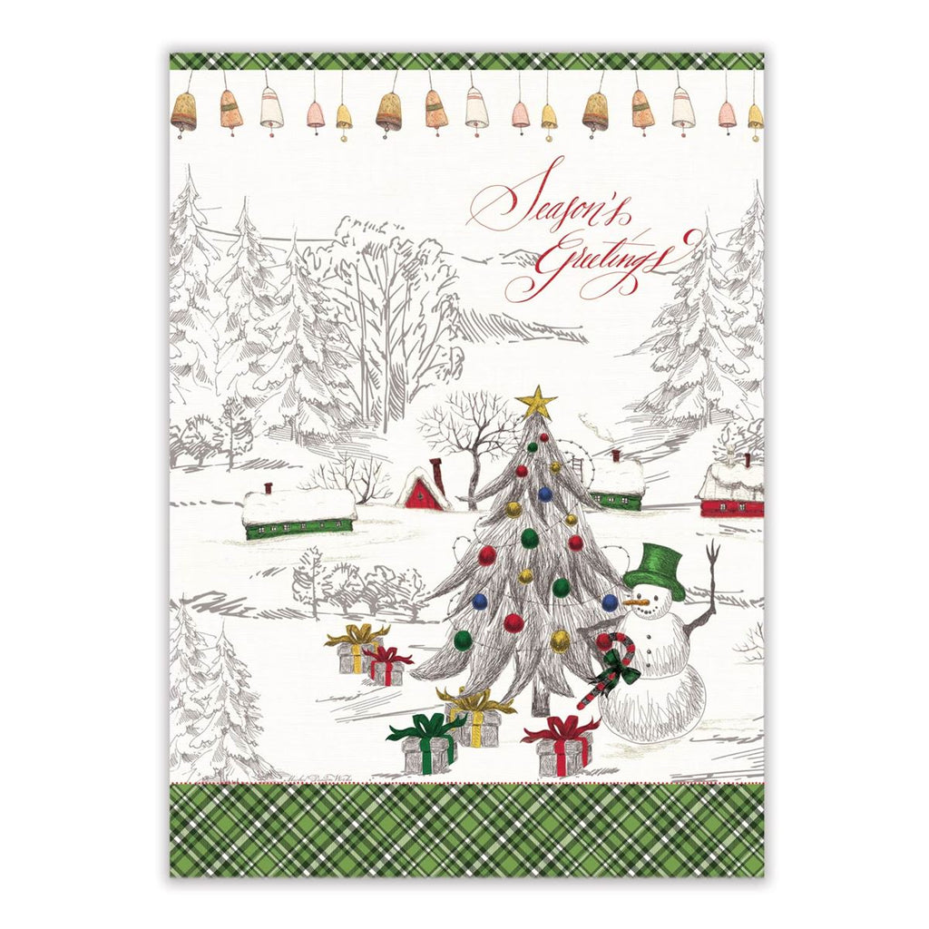 Season's Greetings Kitchen Towel