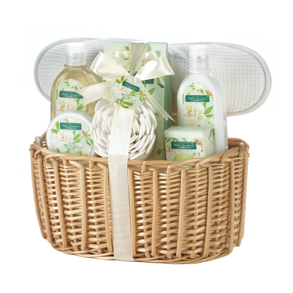 White Gardenia Spa Gift Basket