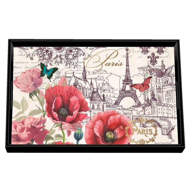 Toujours Paris Decoupage Wooden Vanity Tray