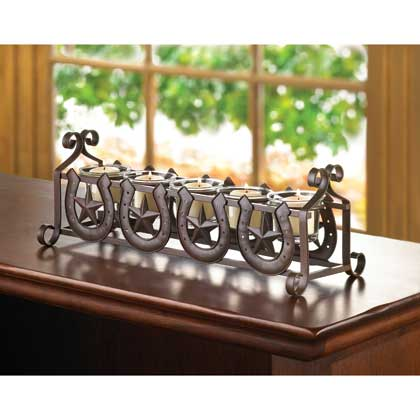 Horseshoe Votive Candle Holder