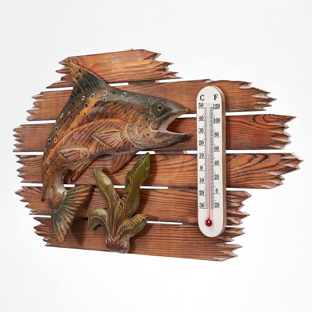 Hand Carved Fish Thermometer