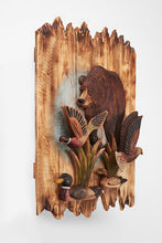 Bear With Eagle, Duck, And Pheasant 3D Wall Art
