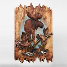 Moose With Ducks, And Loons 3D Wall Art