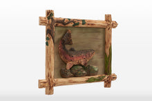 Rainbow Trout With Wooden Frame 3D Wall Art