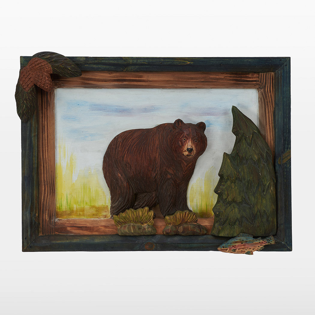 Brown Bear 3D Wall Art