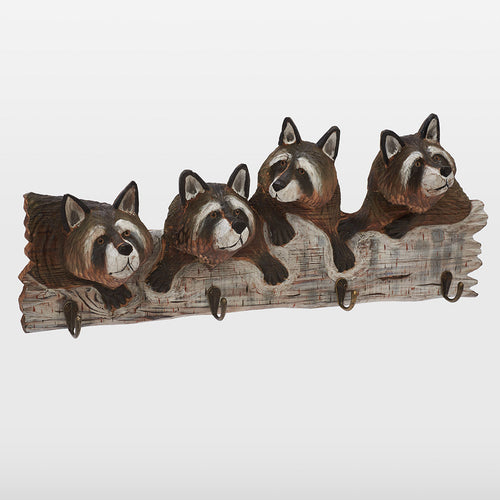 Raccoon Coat Bath Towel Hooks