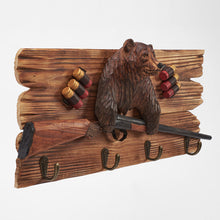Brown Bear With Shot Gun Wall Hook