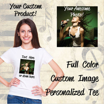 Custom Printed T-Shirts - Personalised - Find Me Gifts
