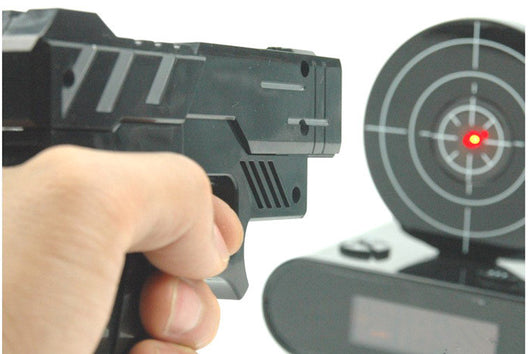 Alarm Clock with Handgun & Target - Find Me Gifts