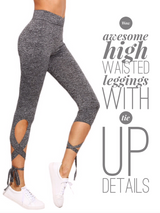 New Style High Waist Crisscross Tie  Leggings -  Fitness - Find Me Gifts