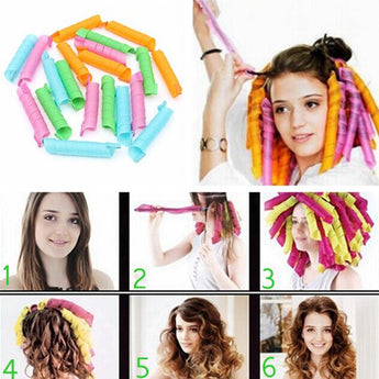 Magic Spiral Hair Curlers - 18 pcs - Find Me Gifts