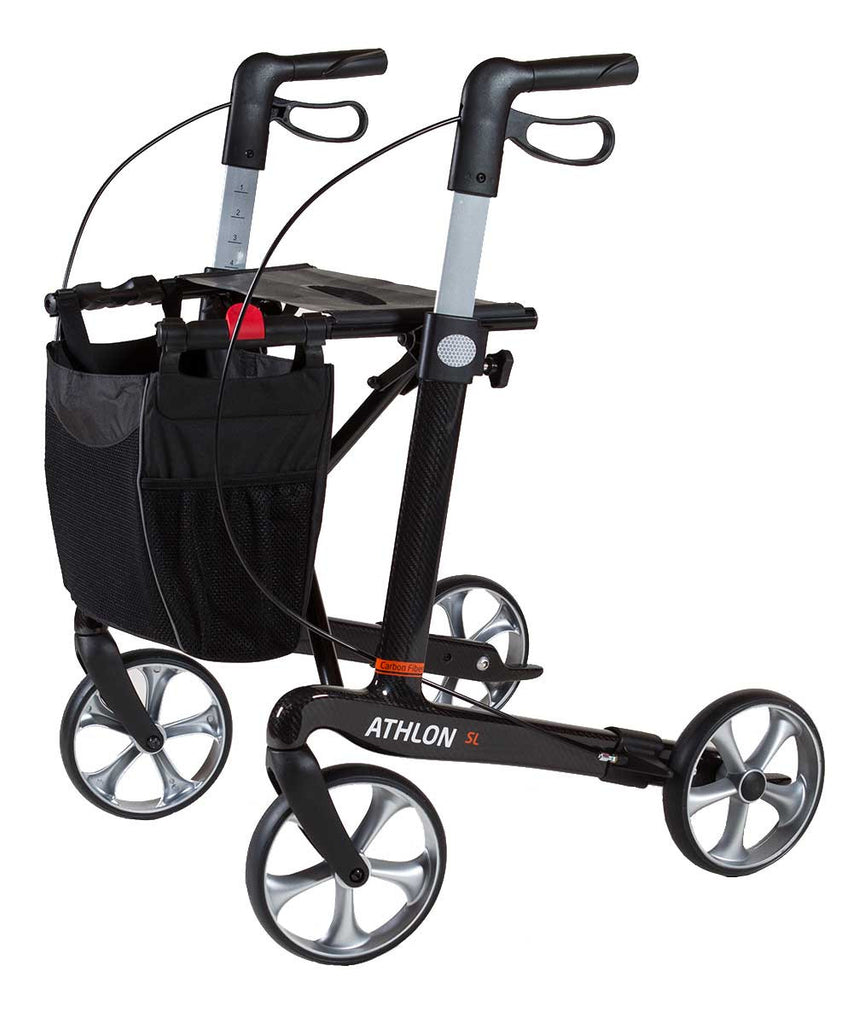 Rehasense Carbon Rollator Walker Athlon SL, Super Lightweight 5,0 kg