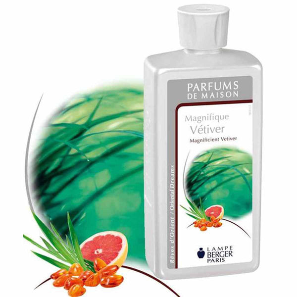 Lampe Berger Parfum Magnifique Vétiver 500ml, Magnificient Vetiver - PHILmed 24 Online Shop