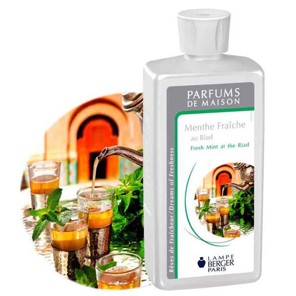 Lampe Berger Parfum Menthe fraiche au Riad 500ml, Fresh mint at the Riad - PHILmed 24 Online Shop