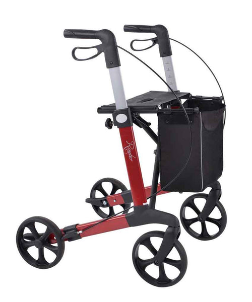 Rehasense lightweight Rollator Walker Router, Wine red - PHILmed 24 Online Shop