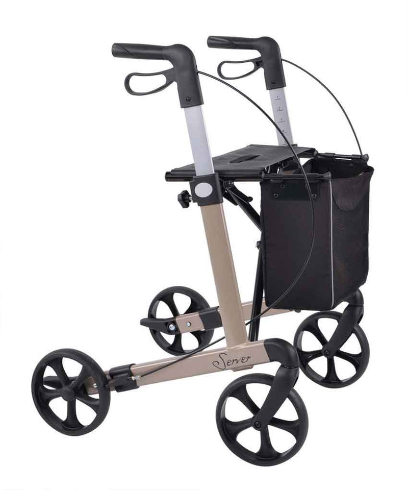 Rehasense lightweight Rollator Walker Server, Pearl beige - PHILmed 24 Online Shop