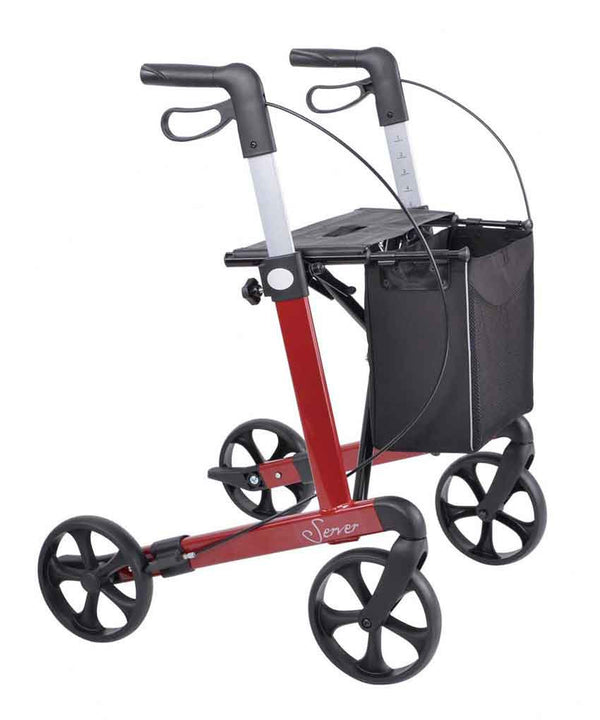 Rehasense lightweight Rollator Walker Server, Wine red - PHILmed 24 Online Shop