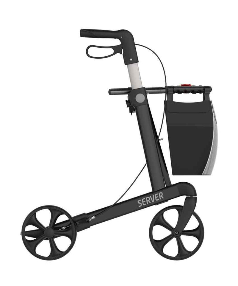 Rehasense lightweight Rollator Walker Server, Black - PHILmed 24 Online Shop
