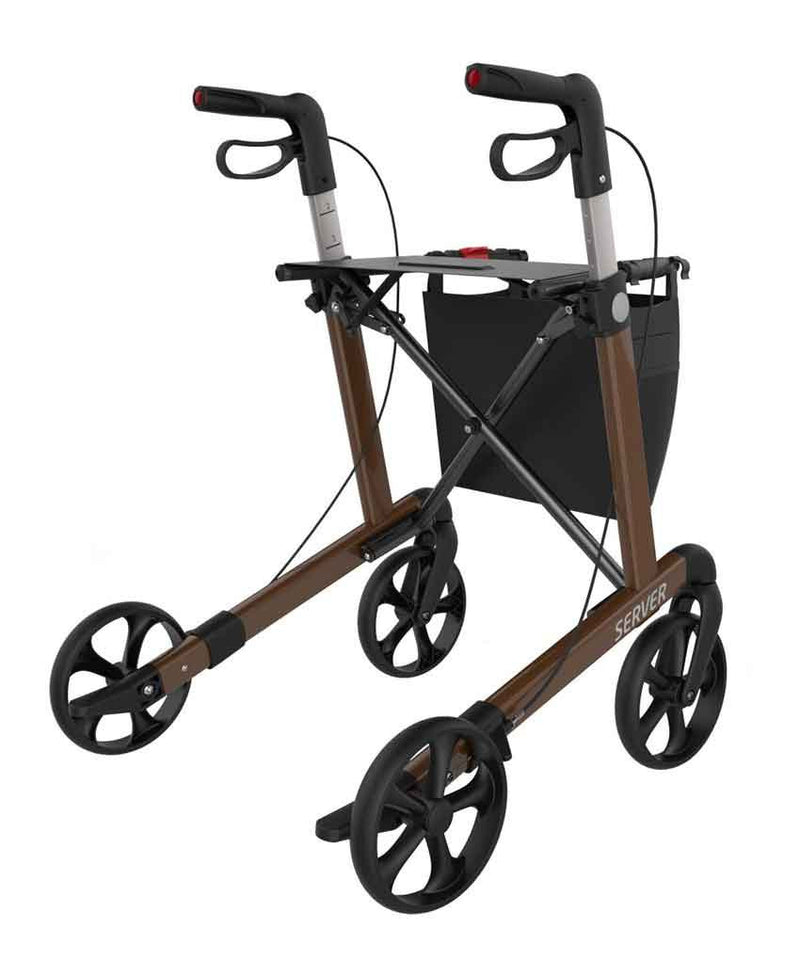 Rehasense lightweight Rollator Walker Server, Brown - PHILmed 24 Online Shop