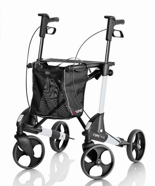 TOPRO Rollator Walker Troja 2G Basic, white - PHILmed 24 Online Shop