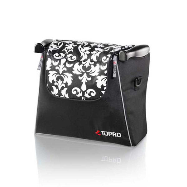 Topro Shopping bag, Rollator Accessory for Troja, Troja 2G, black-white