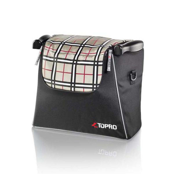 Topro Shopping bag, Rollator Accessory for Troja, Troja 2G, tartan-red