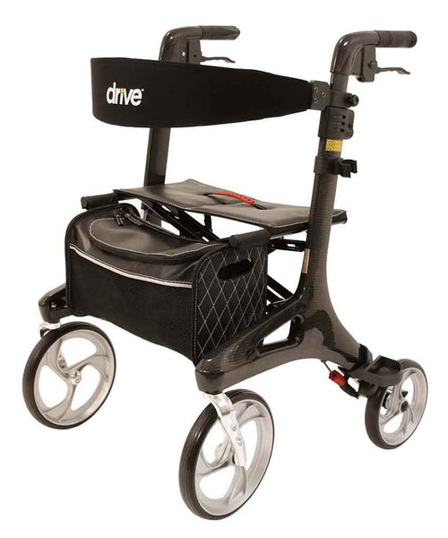 Drive Medical Rollator Walker Nitro Carbon 5,5 kg, Black - PHILmed 24 Online Shop