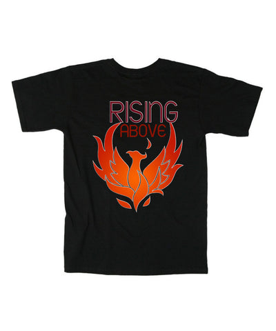 Rising Above-the-phoenix- T-shirt-as-seen-on-the-q-show-black-t-shirt