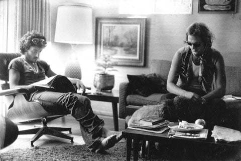 Rick segus and bruce Springsteen 1975