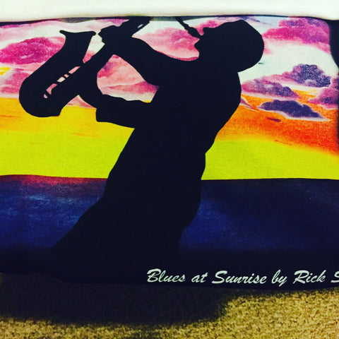 blues at sunrise, t-shirt