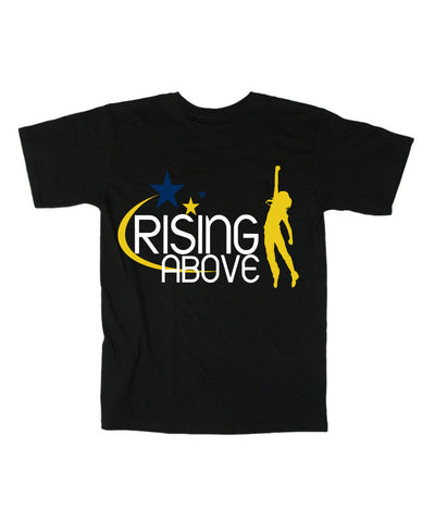 Rising Above- T-shirt-as-seen-on-the-q-show-black-t-shirt
