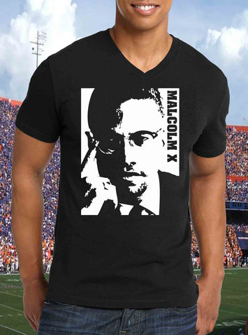 Mens-t-shirt-Malcolm-X-Art-tees-Rock