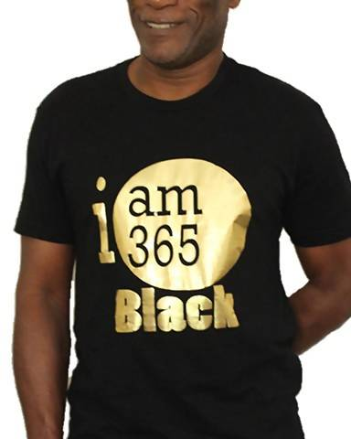 365 Black Men S Unisex Gold Foil T Shirt