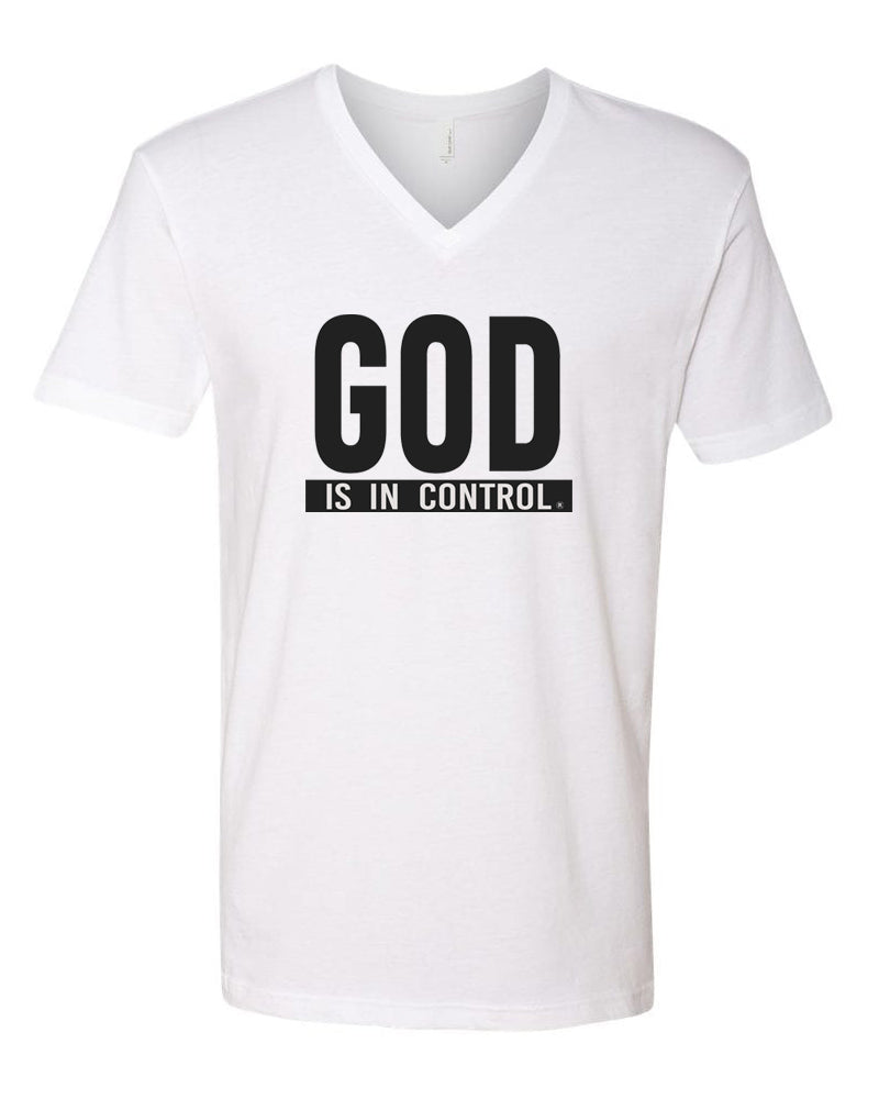 God is in Control - MALE VNECK