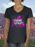 Youg Gifted & Gorgeous, pink design women T-shirt by Art Tees Rock