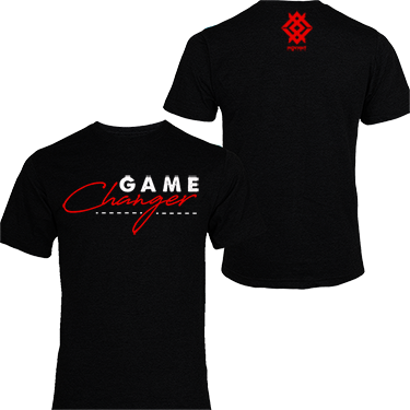 MOVMNT- Game Changer Black T-Shirt - With White/Red Logo