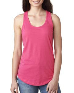 Customized Ladies Tank top-art-tees-rock-hot-pink