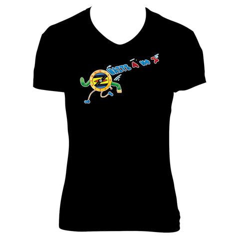 ladies-t-shirt-black-zonie-zoned-design-time-waits-for-no-1