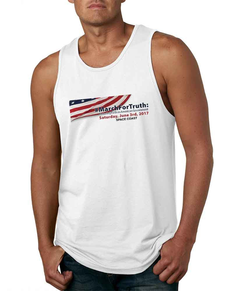 March for Truth - Mens Next Level Tank Top white