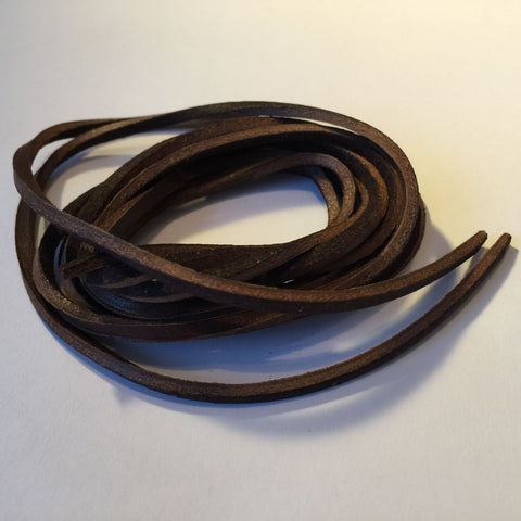 Tobby Leather laces (Brown) | Leather shoelaces