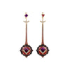Bespoke Mulhadara Garnet Roosewood Diamond Sapphire Earrings 1