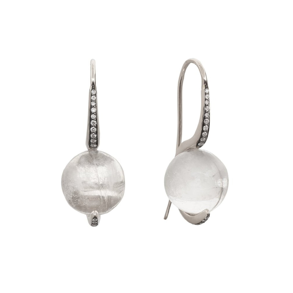 TILSAM Earrings in Clear Quartz