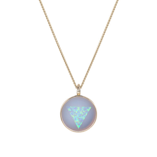 Noor Fares Ajna Blue Chalcedony Opal Pendant