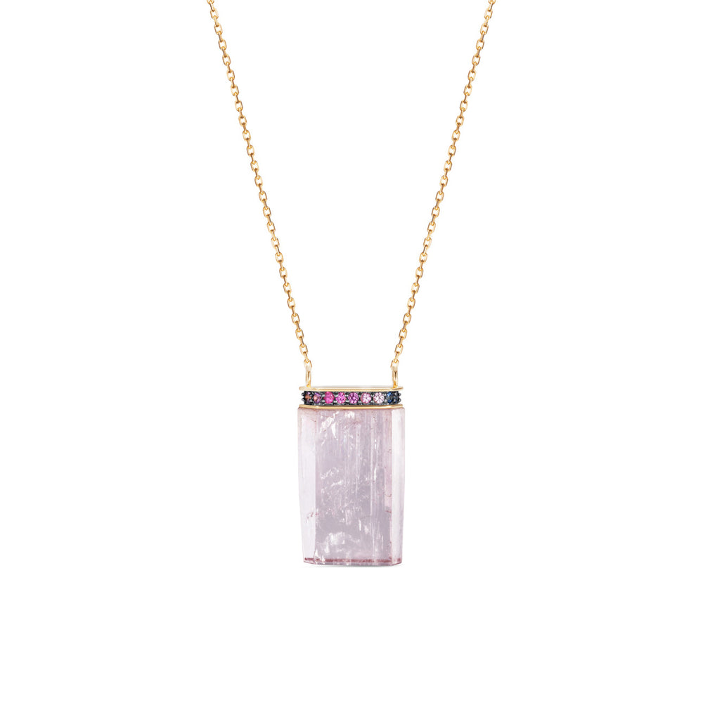 Noor Fares Dawn Kunzite Crystal Pendant  Edit alt text