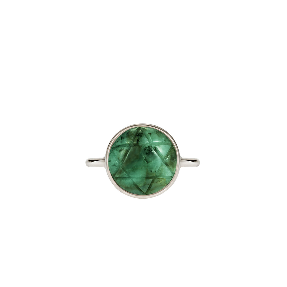 Noor Fares Anahata Emerald Ring