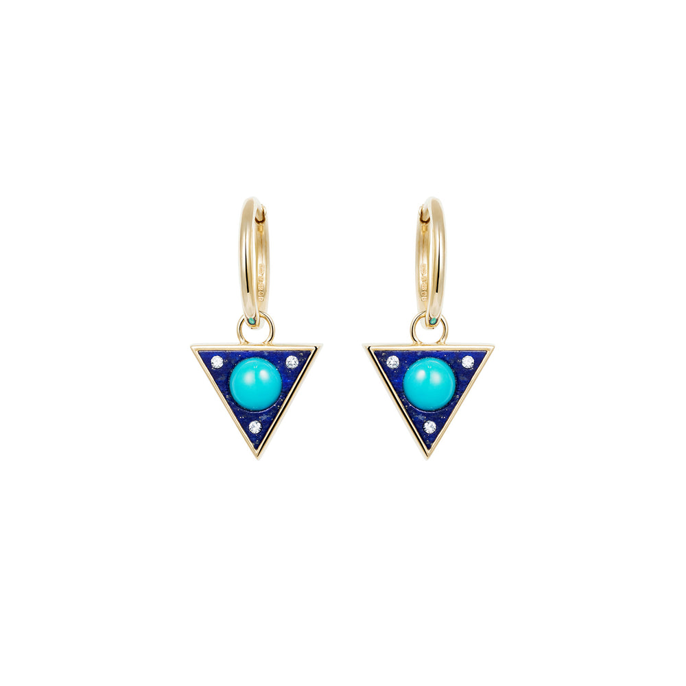 Noor Fares Vishudda Lapis Lazuli Turquoise Earrings
